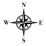 компас eps Стоковая Фотография RF