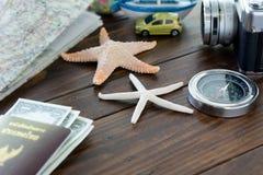 компас l камеры шлюпки автомобиля морских звёзд малый Стоковые Фото