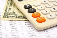 компенсации кредита вычисления вниз Стоковые Фотографии RF