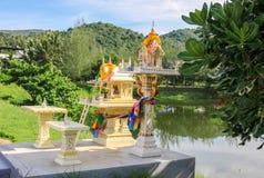 Комплексы виска в Таиланде Буддийские виски в Бангкоке стоковое фото