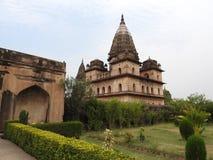 Комплекс виска дворца в Orcha Madhya Pradesh r стоковое изображение rf