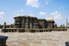 Комплекс виска Chennakeshava, Belur, Karnataka Общий вид для стоковые фото