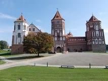 Комплекс замка Mir (Беларусь) Стоковые Фотографии RF
