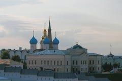 Комплекс собора аннунциации Казани Кремля Татарстан, Россия Стоковое Фото