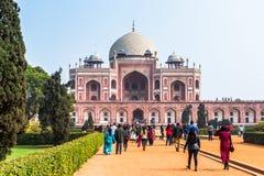 Комплекс усыпальницы Humayun, усыпальница императора Humayun Mughal внутри стоковые фото