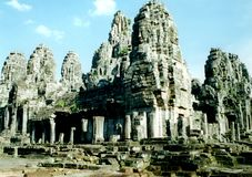Комплекс bayon в Angkor, Камбоджа Стоковое фото RF