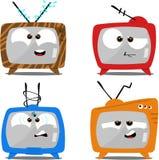 комплекты tv шаржа ретро Стоковое Изображение