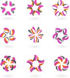 Комплект абстрактных икон и логосов #2 - конструкции бесплатная иллюстрация