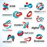 Комплект абстрактных икон 3d бесплатная иллюстрация