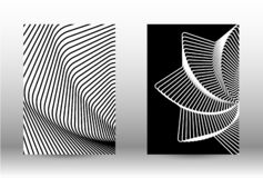 Комплект абстрактных картин с передернутыми линиями бесплатная иллюстрация
