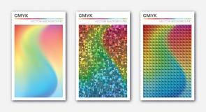 Комплект абстрактных красочных предпосылок Бесплатная Иллюстрация