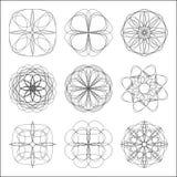 Комплект абстрактных круговых геометрических форм иллюстрация вектора