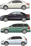 комплект автомобиля иллюстрация штока