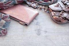 Комплект аксессуаров моды для женщин Стоковые Фото