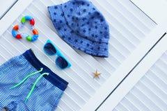 Комплект аксессуаров пляжа младенца Стоковое Изображение