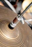 комплект барабанчика цимбалы Стоковое фото RF