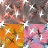 Комплект безшовным картин запятнанных grunge с красочным брызгает Стоковая Фотография RF