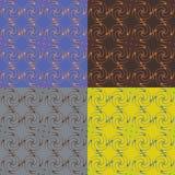 Комплект 4 безшовных картин вектора Стоковые Изображения