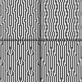 Комплект безшовных линейных черно-белых картин с косоугольниками, шестиугольниками, звездами, треугольниками Стоковые Изображения