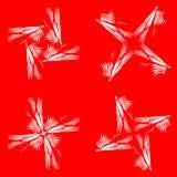 Комплект белых диаграмм от линий и крестов бесплатная иллюстрация