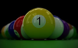 комплект биллиарда шариков Стоковое фото RF