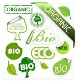 комплект био элементов eco органический иллюстрация вектора