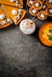 Комплект блюд тыквы Стоковое фото RF