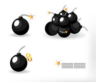 комплект бомбы Бесплатная Иллюстрация