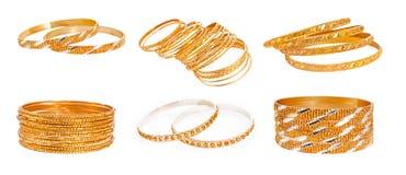 Комплект браслета золота Стоковая Фотография RF