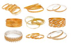 Комплект браслета золота Стоковое Изображение
