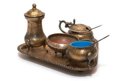 комплект бронзового cutlery старый Стоковое Изображение