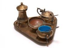 комплект бронзового cutlery старый Стоковые Фотографии RF