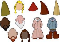 комплект бумаги gnome куклы Стоковые Фото