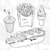 комплект быстро-приготовленное питания Стоковое Изображение RF
