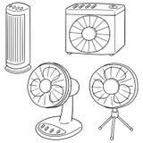 Комплект вектора вентилятора бесплатная иллюстрация