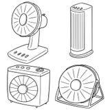 Комплект вектора вентилятора иллюстрация штока