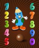 Комплект вектора диаграмм шаржа детей и карандаша, иллюстрации праздника младенца образования Стоковые Фото