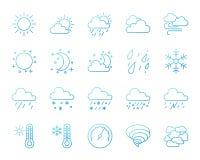 Комплект вектора значков цветного барьера погоды простой иллюстрация штока