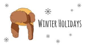 Комплект вектора изолированных аксессуаров зимы Стоковая Фотография