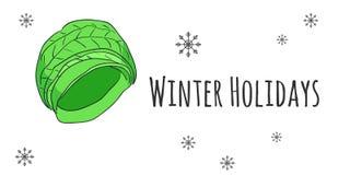 Комплект вектора изолированных аксессуаров зимы Стоковые Фото