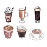 Комплект вектора кофе Стоковые Фотографии RF