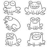 Комплект вектора лягушки иллюстрация вектора