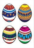 Комплект вектора пасхальных яя изолированных на белизне Стоковые Изображения