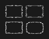 Комплект вектора рамок Grunge иллюстрация штока