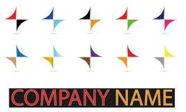 Комплект вектора символа логотипа Абстрактн Сферы Логотипа Rounded Globle Кругов Логотипа Шаблона Современн Компании стоковое изображение