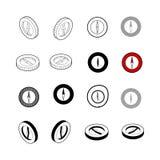 Комплект вектора собрания современного Тип значка компаса multi 3d i Стоковые Изображения