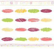 Комплект вектора элементов scribble Стоковые Изображения