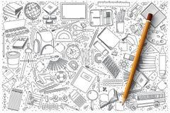 Комплект вектора doodle школы Стоковые Изображения RF