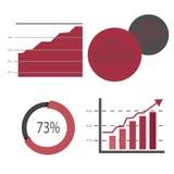 Комплект векторных график Диаграммы, изолированные на белой предпосылке Данные по статистики международной экономики владение дом иллюстрация вектора
