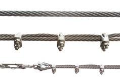 Комплект веревочки металла изолированный на белизне Стоковое фото RF